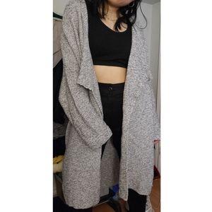 Long oversized knit cardigan